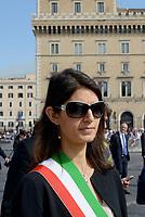 Roma, 2 Giugno 2017<br /> Virginia Raggi<br /> 71&deg;anniversario Festa della Repubblica