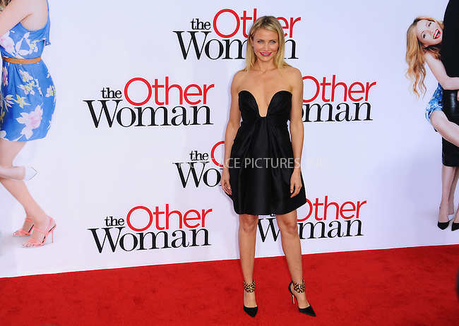 WWW.ACEPIXS.COM<br /> <br /> April 21 2014, LA<br /> <br /> Actress Cameron Diaz arriving at the 'The Other Woman' - Los Angeles Premiere at the Regency Village Theatre on April 21, 2014 in Westwood, California.<br /> <br /> <br /> By Line: Peter West/ACE Pictures<br /> <br /> <br /> ACE Pictures, Inc.<br /> tel: 646 769 0430<br /> Email: info@acepixs.com<br /> www.acepixs.com