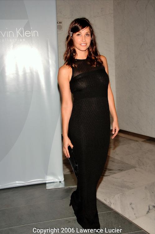 Actress Gina Gershon arrives at the afterparty for the Spring 2007 Calvin Klein Collection For Women runway show September 14, 2006, at 7 World Trade Center in New York City. (Pictured : GINA GERSHON).