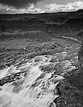 The Palouse river rushes toward Palouse Falls in Eastern Washington State.