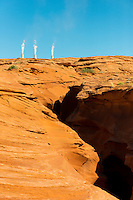 Antelope Canyon And Navajo Generation Station Pipes