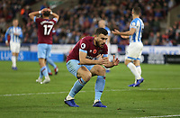 West Ham United's Robert Snodgrass cannot believe that Javier Hernandez has missed a chance in the second half<br /> <br /> Photographer Rob Newell/CameraSport<br /> <br /> The Premier League - Huddersfield Town v West Ham United - Saturday 10th November 2018 - John Smith's Stadium - Huddersfield<br /> <br /> World Copyright © 2018 CameraSport. All rights reserved. 43 Linden Ave. Countesthorpe. Leicester. England. LE8 5PG - Tel: +44 (0) 116 277 4147 - admin@camerasport.com - www.camerasport.com