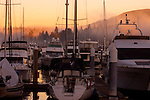 Boats moored at at a jetty in English bay.Vancouver,British Colombia, Canada