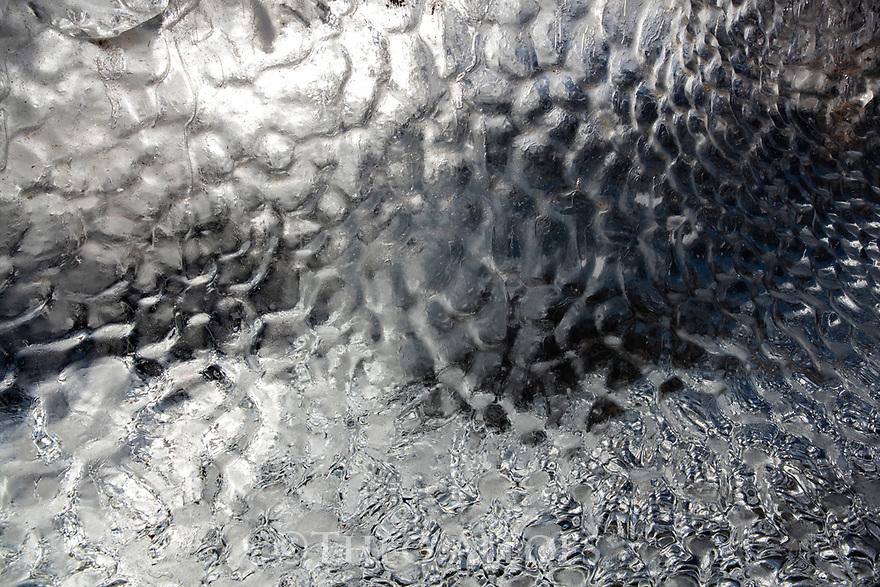 Norway, Svalbard, ripples on ice caused by waves