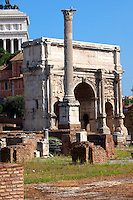 The Arch of Septmius Severus ( AD203) The Forum, Rome