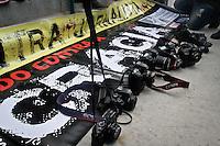SÃO PAULO,SP,28-10-13 - ATO VIOLENCIA JORNALISTA - Ato contra violencia de jornalistas realizado na tarde na pça Rossevelt.Foto Ale Vianna - Brazil Foto Press.