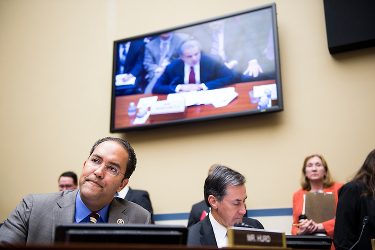 "UNITED STATES - FEBRUARY 3: Rep. Will Hurd, R-Texas,  participates in the House Oversight and Government Reform Committee hearing on ""Inspectors General: Independence, Access and Authority"" on Tuesday, Feb. 3, 2015. (Photo By Bill Clark/CQ Roll Call)"