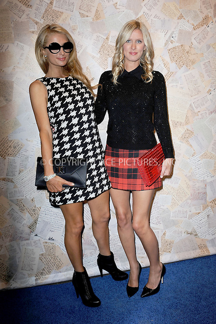 WWW.ACEPIXS.COM<br /> September 9, 2013 New York City<br /> <br /> Paris Hilton and Nicky Hilton attending Alice + Olivia by Stacey Bendet Presentation during Spring 2014 Mercedes Benz Fashion Week at Highline Stages in New York City on September 9, 2013.<br /> <br /> By Line: Kristin Callahan/ACE Pictures<br /> ACE Pictures, Inc.<br /> tel: 646 769 0430<br /> Email: info@acepixs.com<br /> www.acepixs.com<br /> Copyright:<br /> Kristin Callahan/ACE Pictures