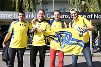 Clermont Auvergne fans<br /> <br /> Photographer Stephen White/CameraSport<br /> <br /> European Rugby Challenge Cup - Northampton Saints v Clermont Auvergne - Saturday 13th October 2018 - Franklin's Gardens - Northampton<br /> <br /> World Copyright © 2018 CameraSport. All rights reserved. 43 Linden Ave. Countesthorpe. Leicester. England. LE8 5PG - Tel: +44 (0) 116 277 4147 - admin@camerasport.com - www.camerasport.com