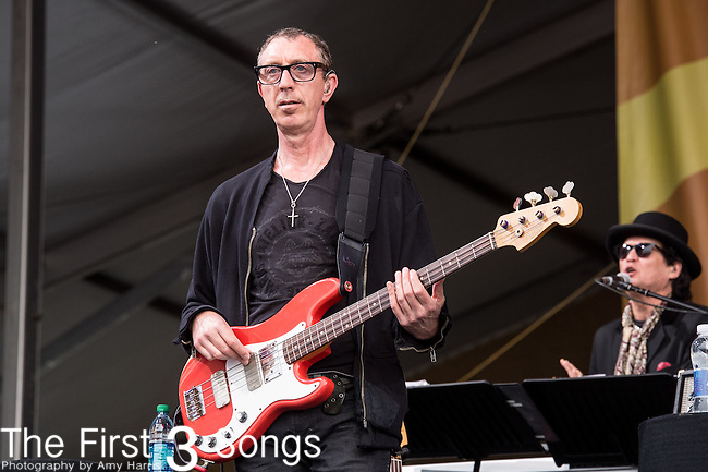 Pino Palladino of The Who performs during the 2015 New Orleans Jazz & Heritage Festival in New Orleans, Louisiana.
