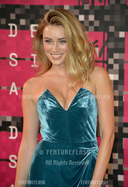 Actress Arielle Vandenberg at the 2015 MTV Video Music Awards at the Microsoft Theatre LA Live.<br /> August 30, 2015  Los Angeles, CA<br /> Picture: Paul Smith / Featureflash
