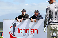 Phil Aitken and Phil Aitkin Jnr from NZ Golf during the Charles Tour Augusta Funds Management Ngamotu Classic, Ngamotu Golf Course, New Plymouth, New Zealand, Saturday 14 October 2017.  Photo: Simon Watts/www.bwmedia.co.nz