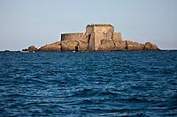 Europe/France/Bretagne/35/Ille et Vilaine/Saint-Malo: Fort du Petit Bé: Ce fort Vauban XVII° jouit d'une position exceptionnelle au coeur de la baie de Saint-Malo