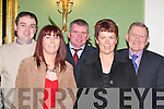 DANCE: Having a ball at the Kilcummin GAA Club Social in the Dromhall Hotel, Killarney, last Friday night were l-r: John Courtney, Mary Courtney, Kevin OLeary, Noreen OLeary and Denis Horgan..