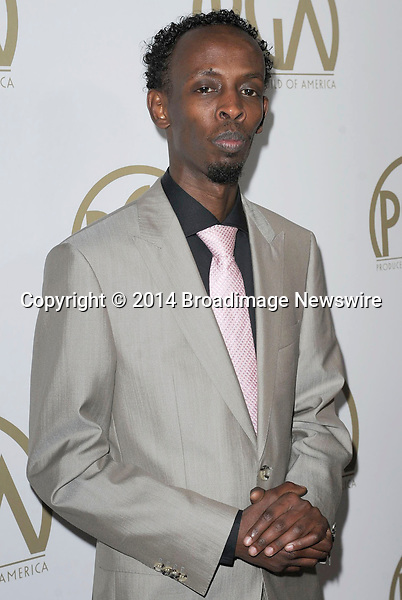 Pictured: Barkhad Abdi<br /> Mandatory Credit &copy; Adhemar Sburlati/Broadimage<br /> The 25th Annual Producers Guild of America Awards<br /> <br /> 1/19/14, Los Angeles, California, United States of America<br /> <br /> Broadimage Newswire<br /> Los Angeles 1+  (310) 301-1027<br /> New York      1+  (646) 827-9134<br /> sales@broadimage.com<br /> http://www.broadimage.com