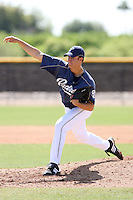 John Hussey, San Diego Padres 2010 minor league spring training..Photo by:  Bill Mitchell/Four Seam Images.