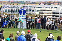 Nacho Elvira (ESP) on the 4th tee during Round 4 of the Open de Espana 2018 at Centro Nacional de Golf on Sunday 15th April 2018.<br /> Picture:  Thos Caffrey / www.golffile.ie<br /> <br /> All photo usage must carry mandatory copyright credit (&copy; Golffile | Thos Caffrey)