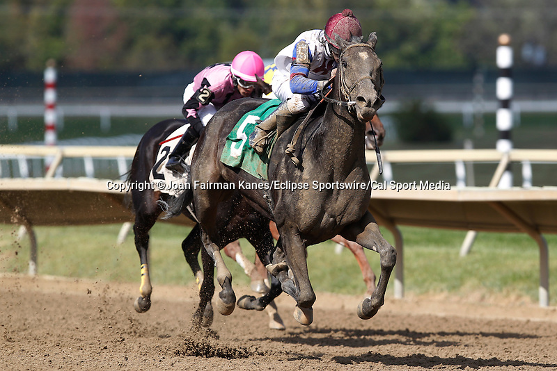 September 20, 2014: Catch My Drift, Kendrick Carmouche up, wins Race 8, an allowance optional claiming race for fillies and mares three and upward on Pennsylvania Derby Day at Parx Racing. Joan Fairman Kanes/ESW/CSM