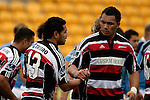 Taiasina Tuifua congratulates Niva Ta'auso. Air NZ Cup week 4 game between the Counties Manukau Steelers and Northland played at Mt Smart Stadium on the 19th of August 2006. Northland won 21 - 17.