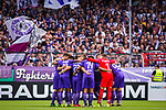 11.08.2019, Stadion an der Bremer Brücke, Osnabrück, GER, DFB Pokal, 1. Hauptrunde, VfL Osnabrueck vs RB Leipzig, DFB REGULATIONS PROHIBIT ANY USE OF PHOTOGRAPHS AS IMAGE SEQUENCES AND/OR QUASI-VIDEO<br /> <br /> im Bild | picture shows:<br /> Mannschaftskreis VfL Osnabrueck, <br /> <br /> Foto © nordphoto / Rauch