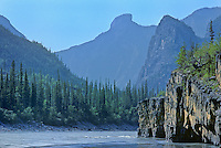 Deep canyons on the Nahanni River in the Mackenzie Mountains<br /> Nahanni National Park<br /> Northwest Territories<br /> Canada