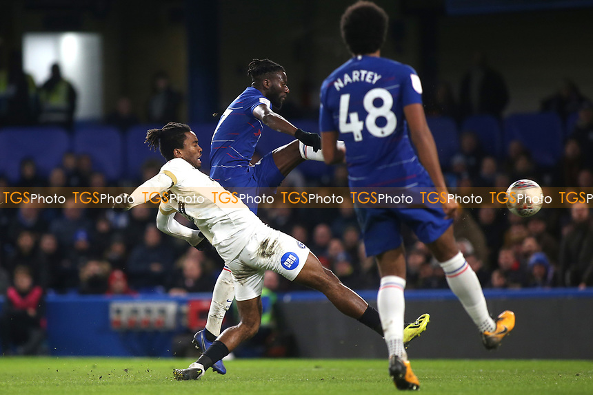 Ivan Toney scores Peterborough's second goal during Chelsea Under-21 vs Peterborough United, Checkatrade Trophy Football at Stamford Bridge on 9th January 2019