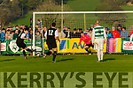 Jamie Spillane Celtic scores the last minute equaliser against Sheriff in the FAI cup semi final on Saturday