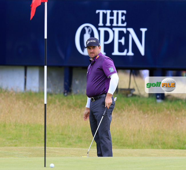 Graeme McDOWELL (NIR) putts on the 15th green during Sunday's Round  of the 144th Open Championship, St Andrews Old Course, St Andrews, Fife, Scotland. 19/07/2015.<br /> Picture Eoin Clarke, www.golffile.ie