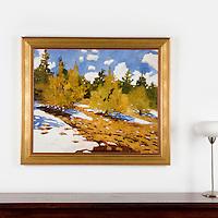 "Perez: Hillside, Digital Print, Image Dims. 31.5"" x 38"", Framed Dims. 39"" x 45.5"""