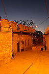 Israel, the Upper Galilee, Safed Old Town at night