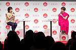 (L to R) Kiho Watanabe founder and president of the Uka company and Miho Nakai, speak during the ELLE WOMEN in SOCIETY 2018 on June 16, 2018, Tokyo, Japan. The annual event focuses on working women's role in the Japanese society through various seminars where top businesswomen, celebrities and leaders are invited to speak. (Photo by Rodrigo Reyes Marin/AFLO)