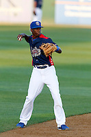 Darnell Sweeney #9 of the Rancho Cucamonga Quakes during a game against the Visalia Rawhide at LoanMart Field on May 25, 2013 in Rancho Cucamonga, California. Rancho Cucamonga defeated Visalia, 11-1. (Larry Goren/Four Seam Images)