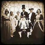 Historic founding father re-enactors at the CA Republican Convention in downtown L.A.