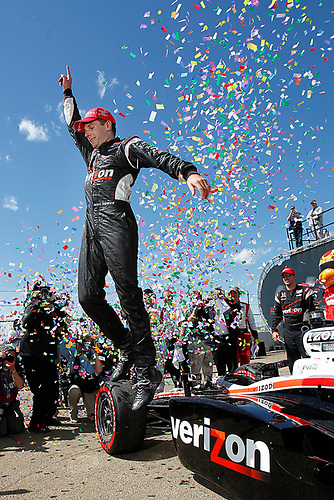 22-24, July, 2011, Edmonton, Alberta, Canada<br /> Will Power celebrates in victory lane<br /> (c) 2011 Perry Nelson<br /> LAT Photo USA
