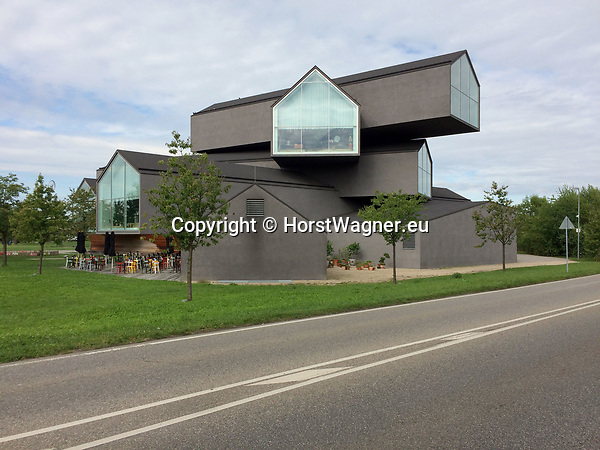 Germany, Weil am Rhein -- September 04, 2017 -- Vitra Campus, a production site (mainly furniture) and field of experimentation for architecture and design; here, the VitraHaus (by Herzog & de Meuron), housing the Vitra Home Collection -- © HorstWagner.eu