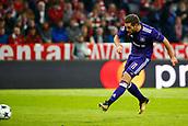 September 12th 2017, Munich, Germany, Champions League football, Bayern Munich versus Anderlecht;  Alexandru Chipciu midfielder of RSC Anderlecht  shoots during the match