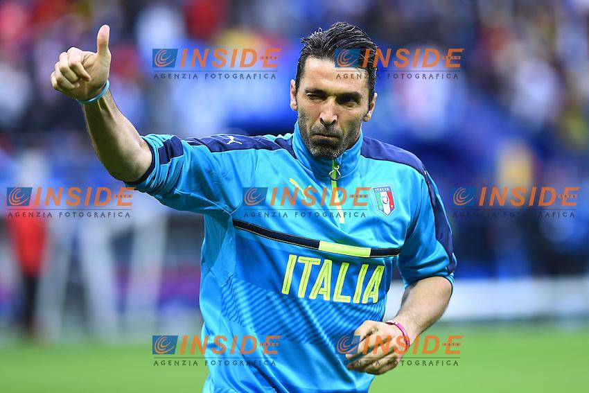 Gianluigi Buffon Italy <br /> Lyon 13-06-2016 Stade de Lyon Footballl Euro2016 Belgium - Italy / Belgio - Italia Group Stage Group D. Foto Massimo Insabato  / Insidefoto