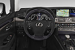 Car pictures of steering wheel view of a 2015 Lexus LS 460 4 Door Sedan