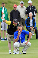 Pat Murray (Limerick) on the 14th green during Round 3 of The South of Ireland in Lahinch Golf Club on Monday 28th July 2014.<br /> Picture:  Thos Caffrey / www.golffile.ie