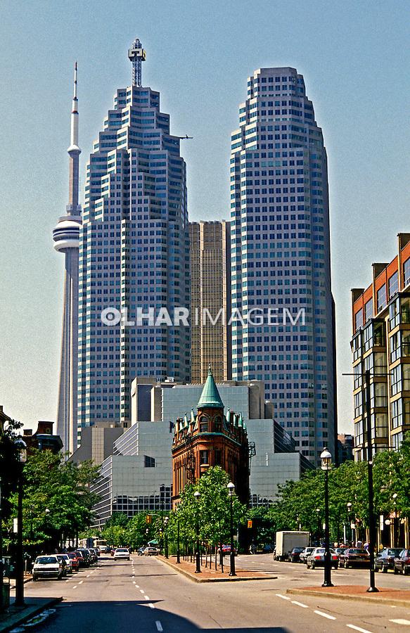 Arquitetura da cidade de Toronto. Canadá. 1986. Foto de João Caldas.