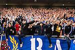 Stockholm 2015-07-27 Fotboll Allsvenskan Hammarby IF - IFK Norrk&ouml;ping :  <br /> Norrk&ouml;pings supportrar jublar efter matchen mellan Hammarby IF och IFK Norrk&ouml;ping <br /> (Foto: Kenta J&ouml;nsson) Nyckelord:  Fotboll Allsvenskan Tele2 Arena Hammarby HIF Bajen IFK Norrk&ouml;ping jubel gl&auml;dje lycka glad happy supporter fans publik supporters
