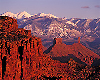Castle Rock and La Sal Mountains, Proposed La Sal Waters Wilderness, Manti-La Sal National Forest, Utah