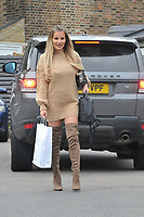 Georgia Kousoulou<br /> arriving for filming for Towie la sala Chigwell<br /> <br /> <br /> &copy;Richard Open snappers