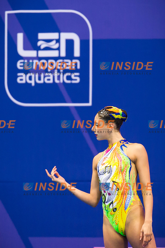 CERRUTI Linda ITA bronze medal<br /> London, Queen Elizabeth II Olympic Park Pool <br /> LEN 2016 European Aquatics Elite Championships <br /> Synchro<br /> Solo free final <br /> Day 02 10-05-2016<br /> Photo Giorgio Perottino/Deepbluemedia/Insidefoto