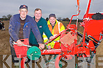 HAND: Maurice Quille (listowel) getting an helping hand on Sunady at the Abbeydorney Ploughing Competition  from Tom Harmon(The Spa), and Tom Harmon (Ballyroe) they are cousins)........... . ............................... ..........