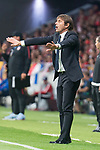 Chelsea's coach Antonio Conte during UEFA Champions League match between Atletico de Madrid and Chelsea at Wanda Metropolitano in Madrid, Spain September 27, 2017. (ALTERPHOTOS/Borja B.Hojas)