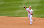 1 April 2013: Washington Nationals shortstop Ian Desmond in action during the Nationals' Opening Day Game against the Miami Marlins at Nationals Park in Washington, DC. The Nationals shut out the Marlins 2-0 to launch the 2013 season. Mandatory Credit: Ed Wolfstein Photo *** RAW (NEF) Image File Available ***