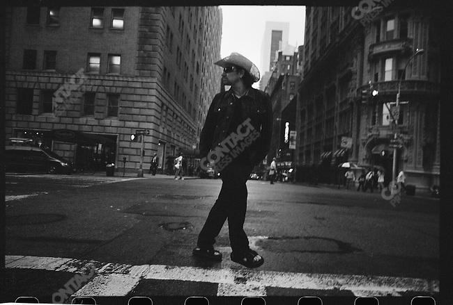 Bono, lead singer of U2, New York City, October 2005.