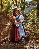 CHILDREN, KINDER, NIÑOS, paintings+++++,USLGSK0128,#K#, EVERYDAY ,Sandra Kock, victorian