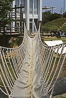 St. Louis: Jewish Community Center, Children's Learning Center. Rope bridge. Photo '78.